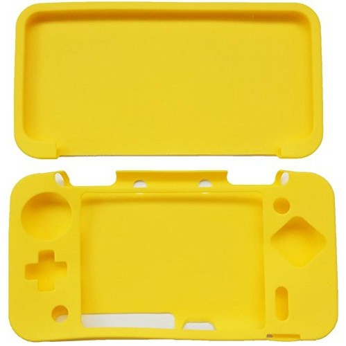 Silicone full Cover Skin Case for Nintendo 2DS XL /2DS LL Game -Yellow