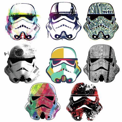 RoomMates Star Wars Artistic Stormtrooper Heads Peel U0026 Stick Wall Decal :  Nursery Wall Decals   Best Buy Canada