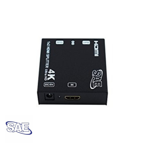 SAE 1x2 HDMI Splitter (1-in 2-out) Support 3D, 4Kx2K at 60Hz
