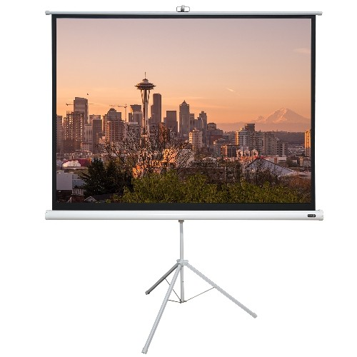 "EluneVision 70"" X 70"" 1:1 Portable Tripod Projector Screen"