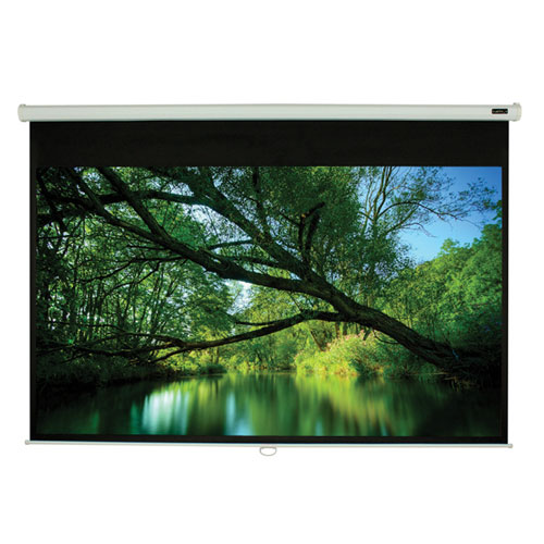 "EluneVision Triton 50"" x 50"" 1:1 Manual Pull-Down Projector Screen"