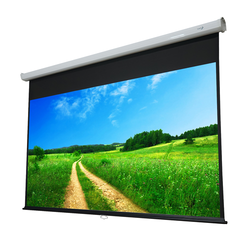 "EluneVision Atlas 100"" 4:3 Manual Control Return Pull-Down Projector Screen"