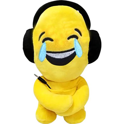 Haut-parleur portatif peluche de iTalk — Émoticône pleurer de joie / LOL