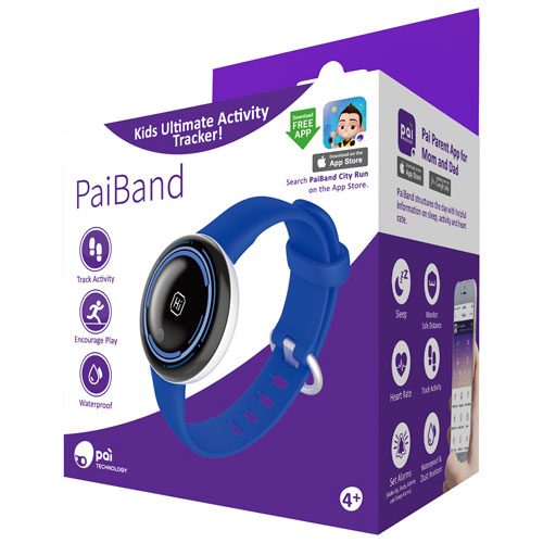 PaiBand 35mm Kids Fitness Tracker with Heart Rate Monitor - Blue