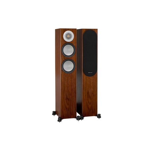 Monitor Audio SILVER 200 Compact Floorstanding Speakers - Walnut (Pair)