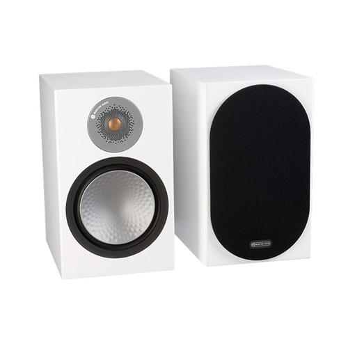 Monitor Audio SILVER 100 Audiophile Bookshelf Speaker - Satin White (Pair)