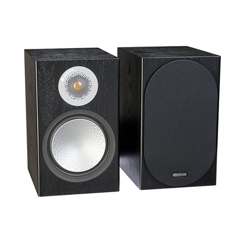 Monitor Audio SILVER 100 Audiophile Bookshelf Speaker - Black Oak (Pair)