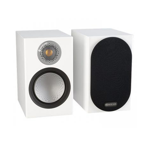 Monitor Audio SILVER 50 Ultra-Compact Bookshelf Speakers - Satin White (Pair)
