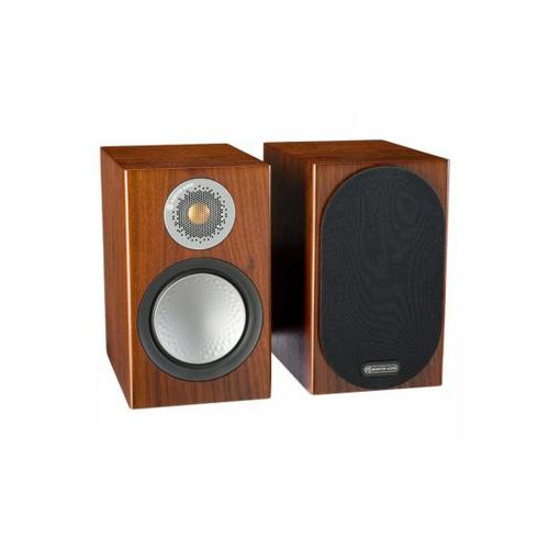 Monitor Audio SILVER 50 Ultra-Compact Bookshelf Speakers - Walnut (Pair)