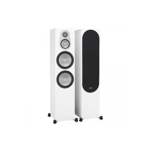 Monitor Audio SILVER 500 3-Way, Four Driver Floorstanding Speaker - Satin White (Pair)