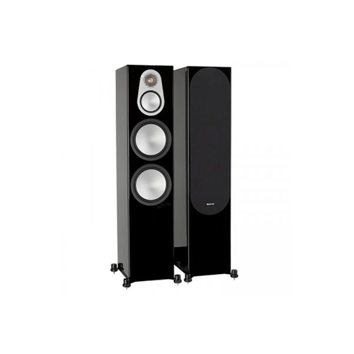Monitor Audio SILVER 500 3-Way, Four Driver Floorstanding Speaker - High Gloss Black (Pair)