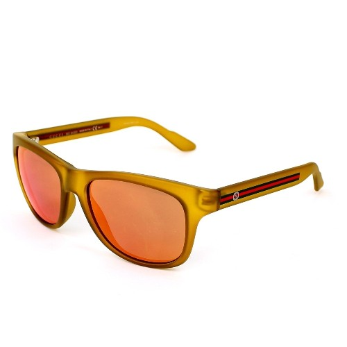 gg3709s m6x yellow frame sunglasses with orange flash mirror lenses sunglasses best buy canada - Yellow Frame Sunglasses