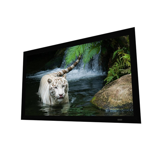 "EluneVision Reference Studio PureBright 4K 125"" 2.4 White Projector Screen"