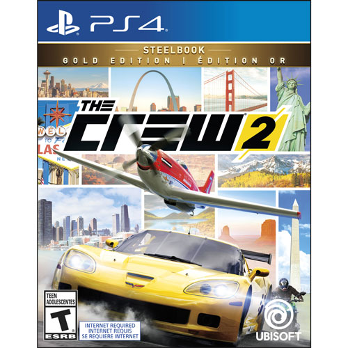 the crew 2 gold steelbook edition ps4 ps4 games best. Black Bedroom Furniture Sets. Home Design Ideas