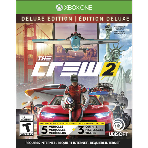 the crew 2 deluxe edition xbox one xbox one games. Black Bedroom Furniture Sets. Home Design Ideas