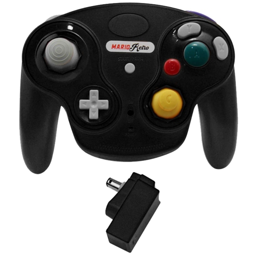 Black Wavebird Wireless Controller for Nintendo GameCube and Wii NGC by Mario Retro [video game]
