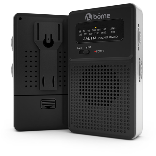 Borne Black Portable AM/FM Radio