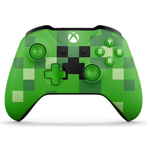 xbox one minecraft creeper wireless controller green