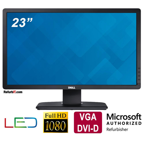 Dell P2312HT 23-inch LED Monitor, 16:9 Aspect Ratio, 1920x1080, VGA, DVI-D- Refurbished