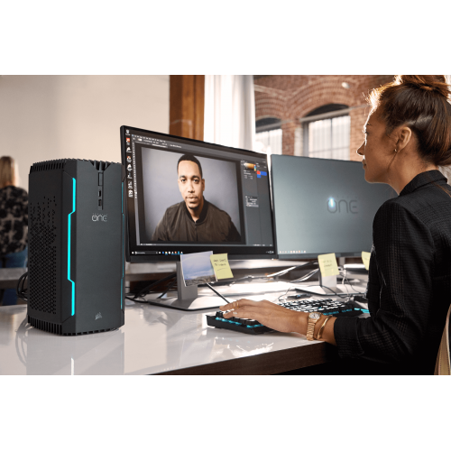 CORSAIR ONE PRO Compact Gaming PC-Intel i7-7700K-2TB HDD-16GB DDR4-Windows 10 Home 64-Bit