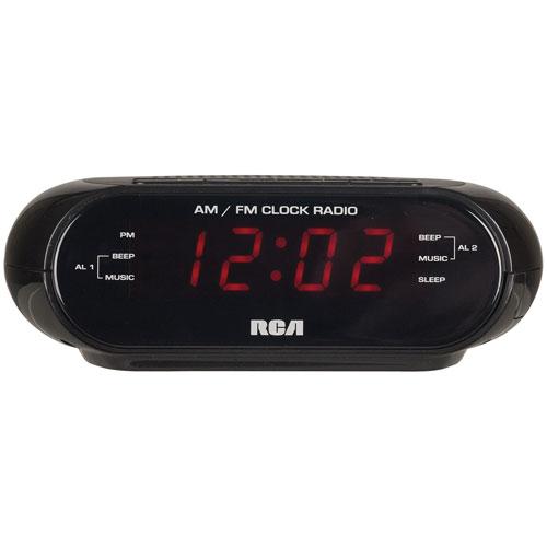 RCA RC205 AM/FM Tabletop Alarm Clock Radio