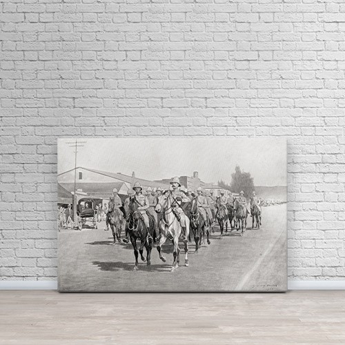 """printscapes wall art: 36"""" x 24"""" canvas print - lord robert's entry ..."""