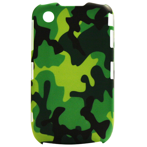 Exian Blackberry Curve 8520/8530/9300 Hard Plastic Case Exian Design Army Pattern Green