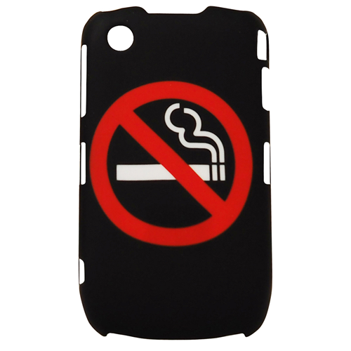 Exian Blackberry Curve 8520/8530/9300 Hard Plastic Case No Smoking Sign Black