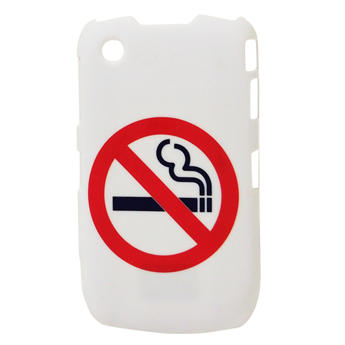 Exian Blackberry Curve 8520/8530/9300 Hard Plastic Case No Smoking Sign White