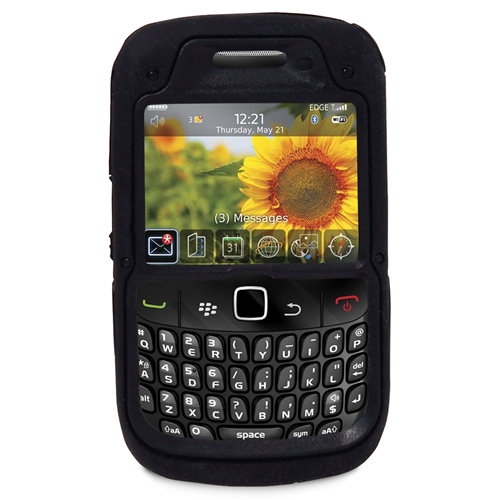 Exian Fitted Hard Shell Case for Blackberry Curve 8520;9300;8530 - Black
