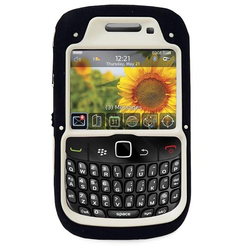 Exian Blackberry Curve 8520/8530/9300 TPU+Hard Plastic Double Case Black/White