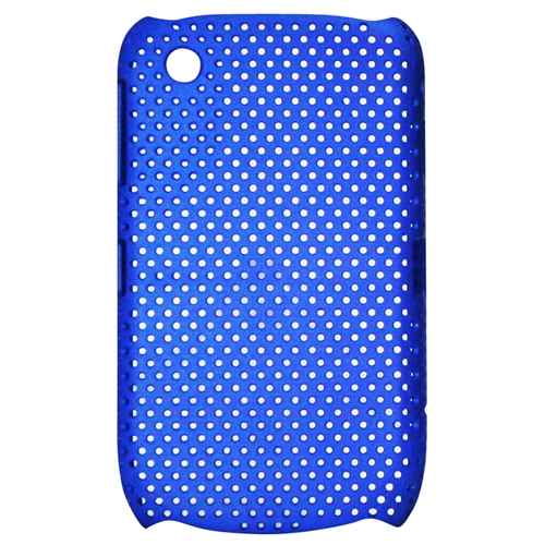 Exian Blackberry Curve 8520/8530/9300 Soft Plastic Case Net Pattern Blue