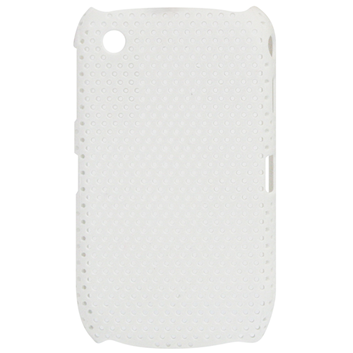 Exian Blackberry Curve 8520/8530/9300 Soft Plastic Case Net Pattern White