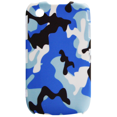 Exian Blackberry Curve 8520/8530/9300 Hard Plastic Case Exian Design Army Pattern Blue
