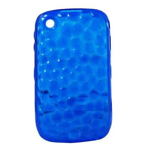 Exian Blackberry Curve 8520/8530/9300 Silicone Case Transparent Water Bubble Blue