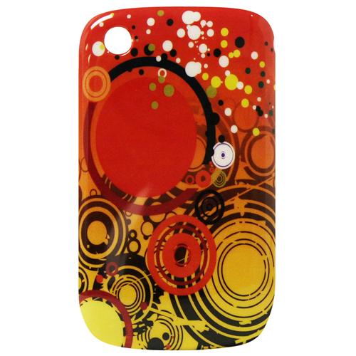 Exian Blackberry Curve 8520/8530/9300 Hard Plastic Case Exian Design Multi Circles Orange