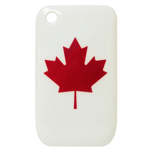 Exian Blackberry Curve 8520/8530/9300 Hard Plastic Case Exian Design Maple Leaf on White