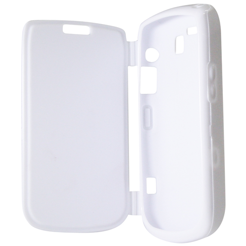 Exian Blackberry Bold 9700 TPU Case with Front Cover White