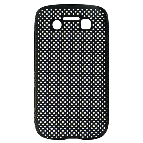 Exian Blackberry Bold 9790 Soft Plastic Case Net Design Black