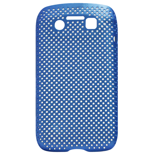 Exian Blackberry Bold 9790 Soft Plastic Case Net Design Blue