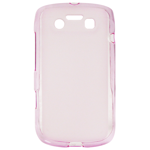 Exian Blackberry Bold 9790 TPU Case Frosted Transparent Pink