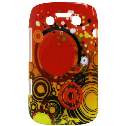 Exian Blackberry Bold 9790 Hard Plastic Case Exian Design Multi Color Circles Orange