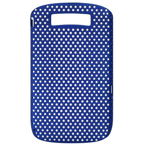 Exian Blackberry Torch 9800 Soft Plastic Case Net Design Blue