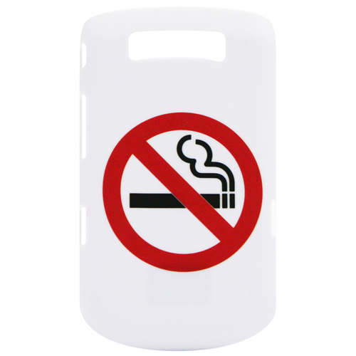 Exian Blackberry Torch 9800 Hard Plastic Case No Smoking Sign White