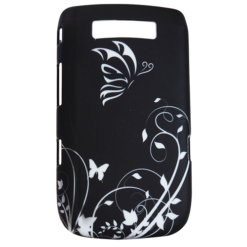 Exian Fitted Hard Shell Case for Blackberry Torch 9800 - Black