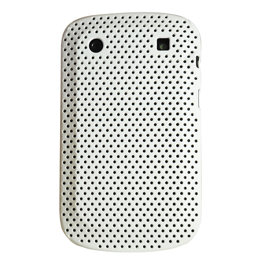 Exian Blackberry Bold 9900 Soft Plasstic Net Pattern White