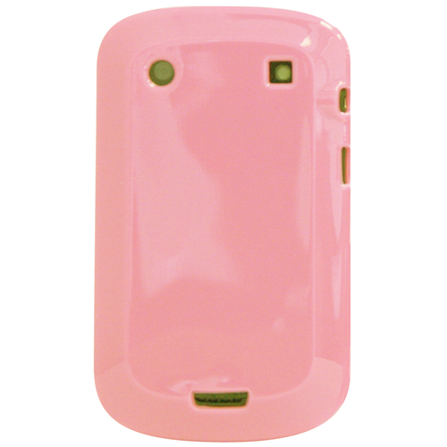 Exian Blackberry Bold 9900 TPU Case Solid Shinny Color Pink
