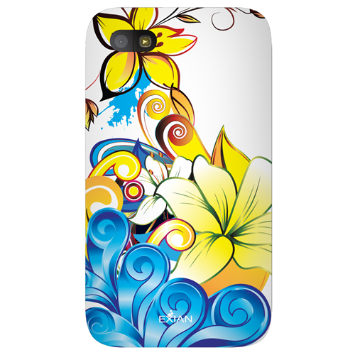 Exian Blackberry Q5 TPU Case Exian Design CCS Floral Pattern