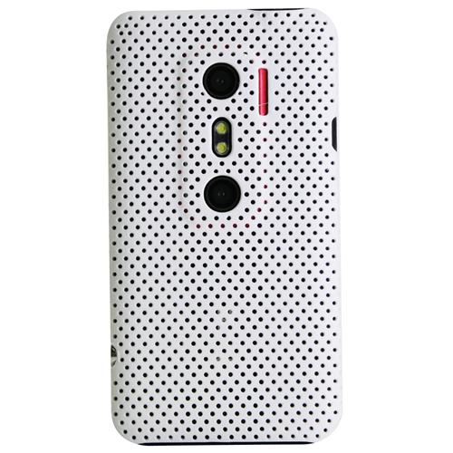 Exian HTC Evo 3D Soft Plastic Case Net Design White