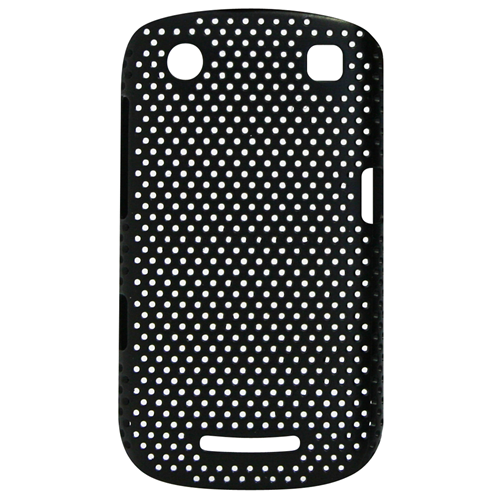 Exian Blackberry Curve 9360 Soft Plastic Case Net Pattern Black
